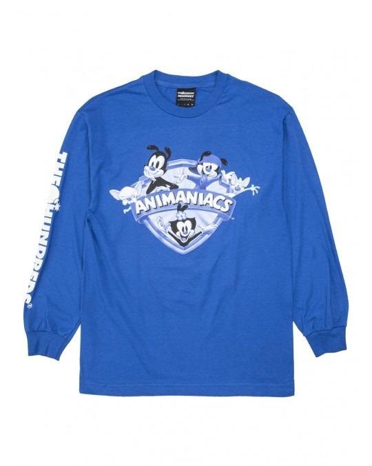 The Hundreds x Animaniacs Shield L/S T-Shirt - Royal Blue