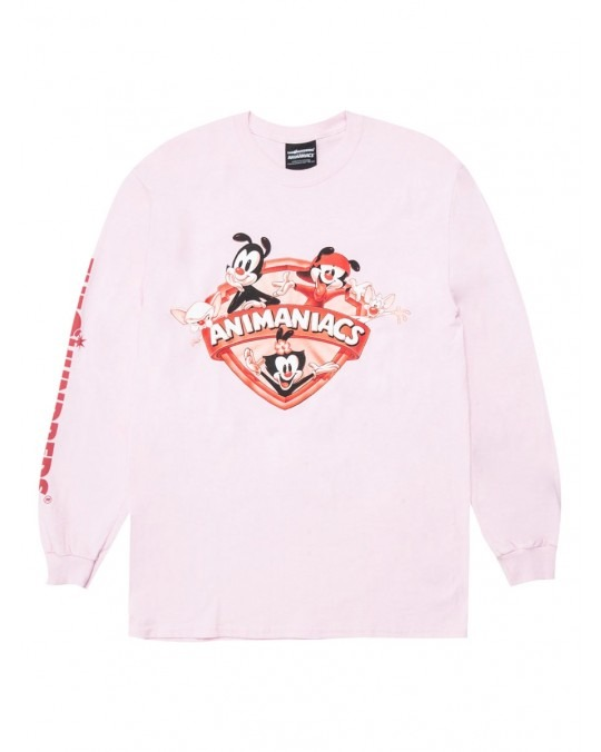 The Hundreds x Animaniacs Shield L/S T-Shirt - Pink