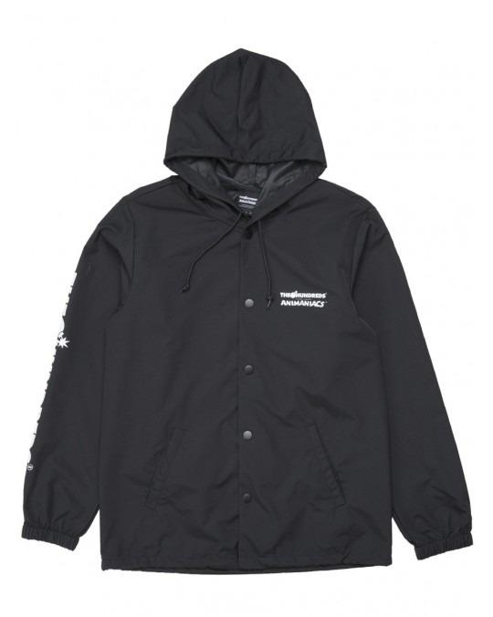 The Hundreds x Animaniacs Ani Adam Bomb Hooded Coaches Jacket - Black