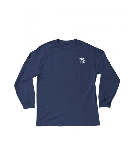 The Quiet Life Shhh L/S T-Shirt - Navy
