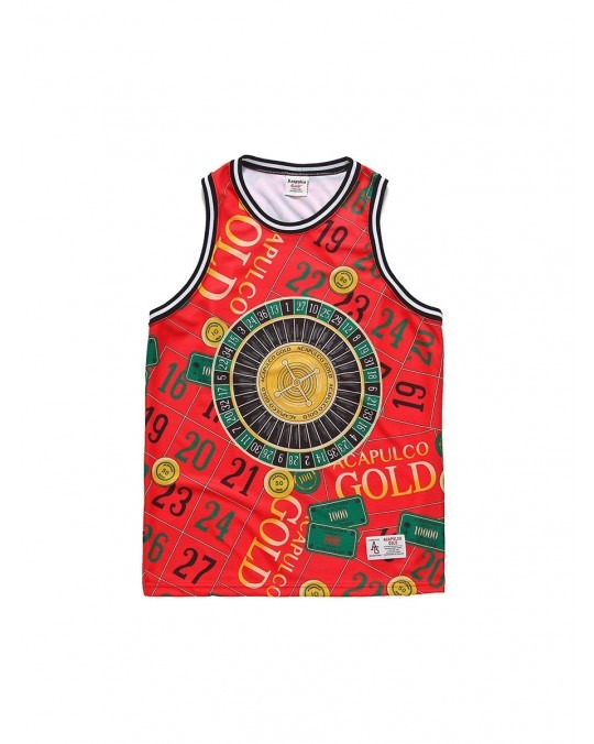 Acapulco Gold Monte Carlo Basketball Jersey - Red