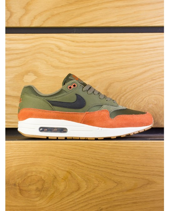 Nike Air Max 1 - Olive Canvas Black Dark Russet