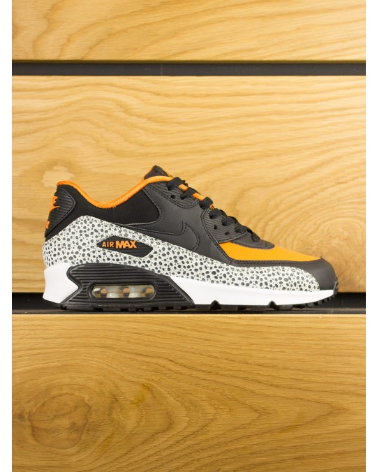 Nike Air Max 90 (GS) Safari - White Black Clay Orange