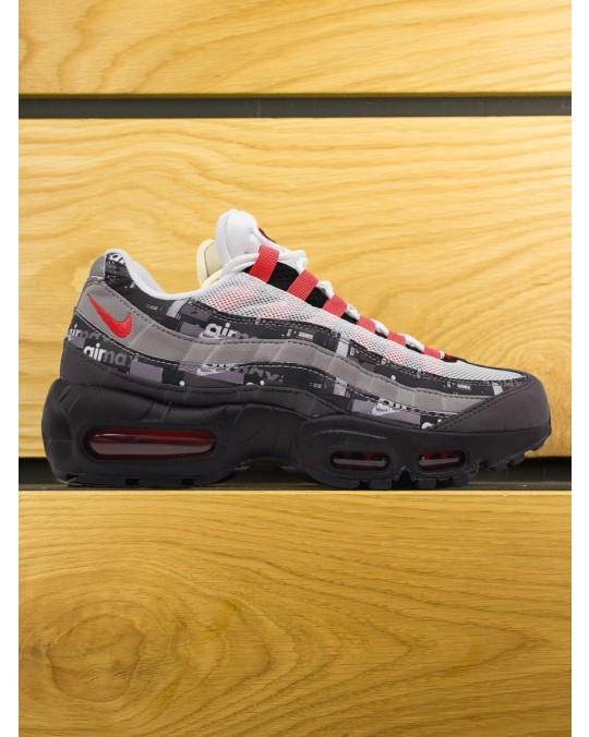 "Nike Air Max 95 PRNT x Atmos Premium QS ""We Love Nike"" - Black Bright Crimson Medium Ash"