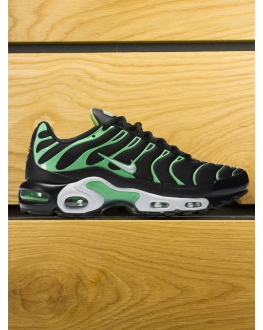 Nike Air Max Plus (TN) - Black White Electric Green
