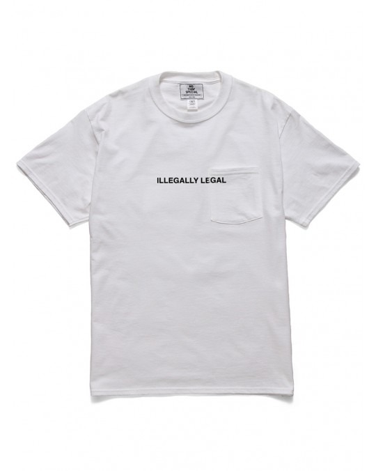 Nothin' Special Illegally Legal Pocket T-Shirt - White