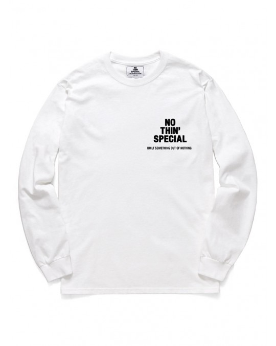 Nothin' Special Logo L/S T-Shirt - White