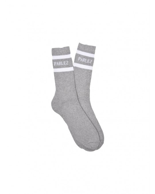 Parlez Block Socks - Heather White