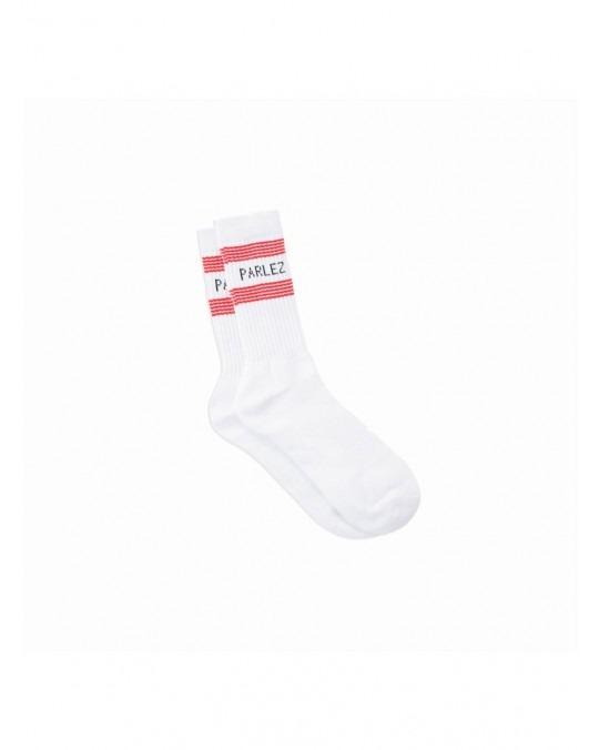Parlez Charter Socks - White Red