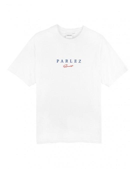Parlez Sports Script T-Shirt - White