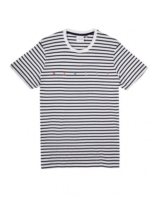 Parlez United T-Shirt - Navy Striped