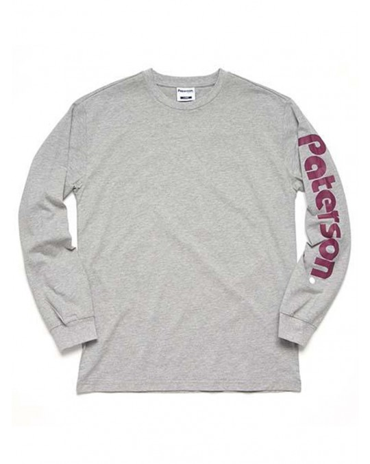 Paterson Logo L/S T-Shirt - Heather Grey