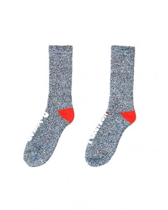 Paterson OG Logo Melange Socks - Grey Melange