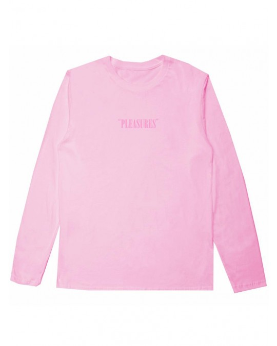 Pleasures Core Logo Embroidered L/S T-Shirt - Pink