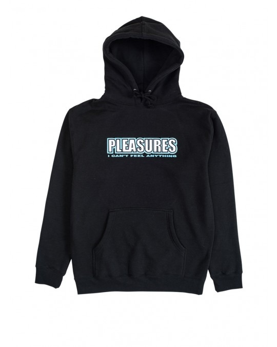 Pleasures Feel My Face Applique Pullover Hoody - Black
