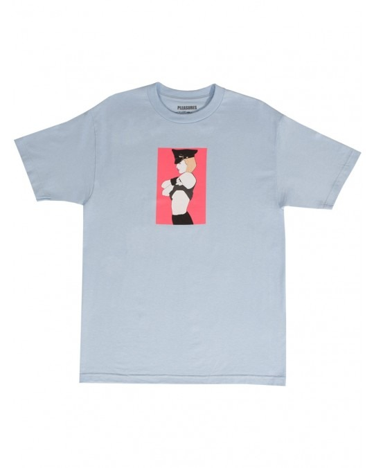 Pleasures x Patrick Nagel Arrested T-Shirt - Powder Blue