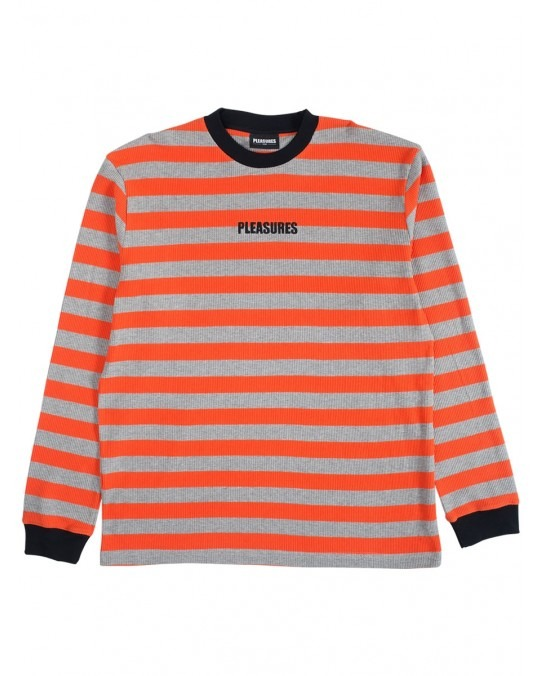 Pleasures Parade Waffle Knit Long Sleeve - Orange