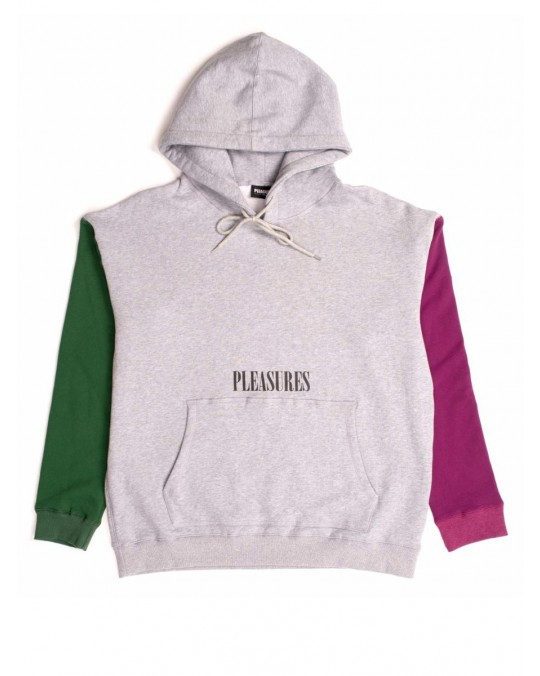 Pleasures Split Colour Hoody - Heather Grey