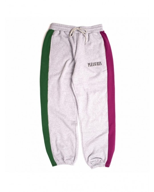 Pleasures Split Colour Sweatpants - Heather Grey