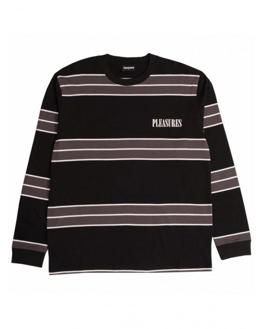 Pleasures Spirit Stripe L/S T-Shirt - Black