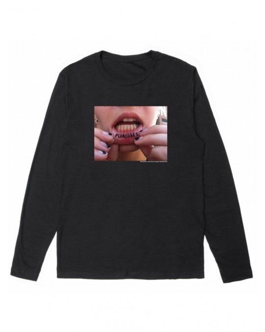 Pleasures Tattoo L/S T-Shirt - Black