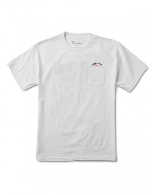 Primitive Always Open Whiskey Pocket T-Shirt - White
