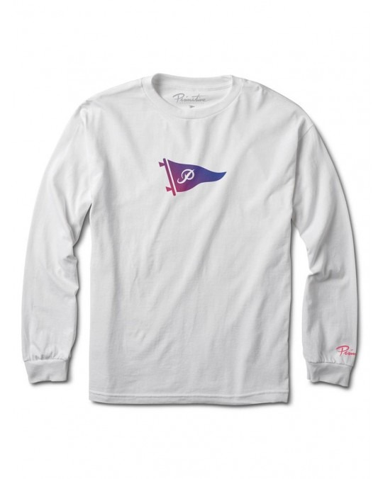 Primitive Tone Pennant L/S T-Shirt - White