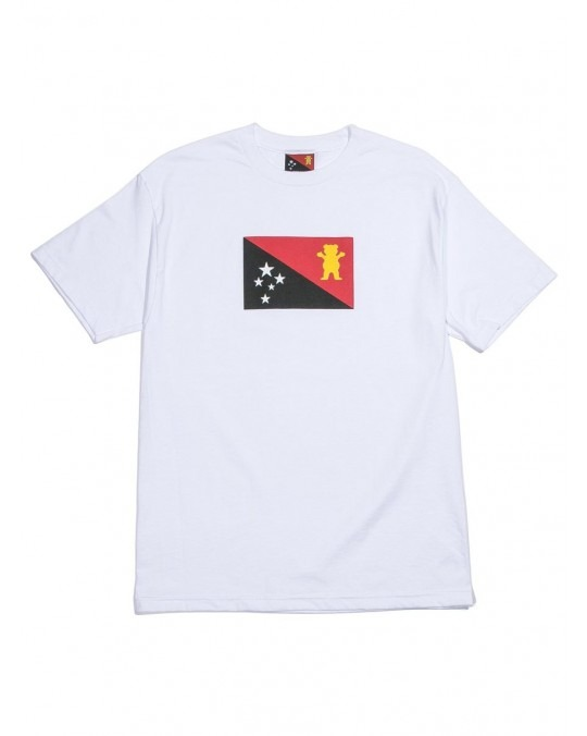 Grizzly x Black Scale Flag T-Shirt - White