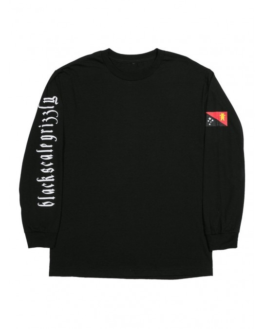 Grizzly x Black Scale Flag L/S T-Shirt - Black