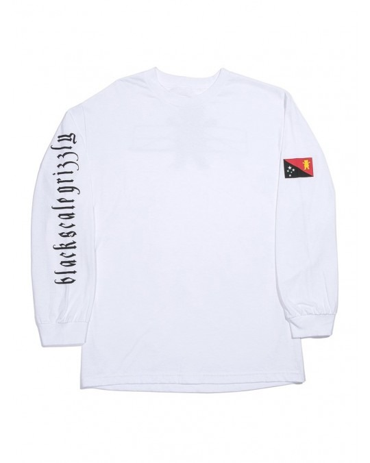 Grizzly x Black Scale Flag L/S T-Shirt - White