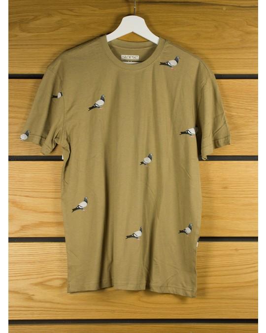 Staple Design All Over Pigeon T-Shirt - Khaki