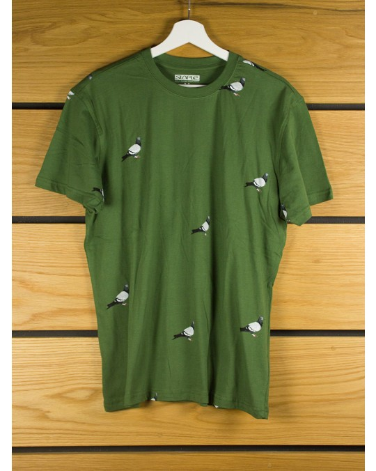 Staple Design All Over Pigeon T-Shirt - Olive