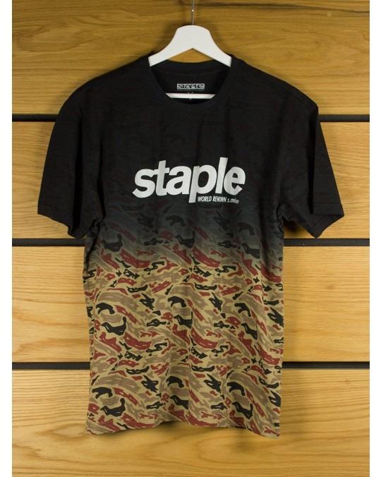 Staple Design Camo Dip T-Shirt - Black