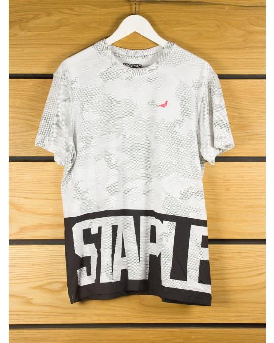 Staple Design Dot Camo Logo T-Shirt - White