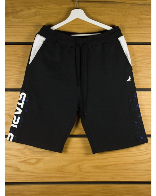 Staple Nasa Sweat Shorts - Black