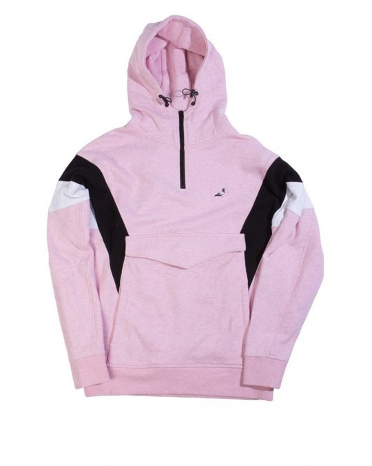 Staple Pieced Half Zip Hoodie - Pink