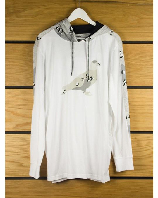 Staple Design Pigeon Hooded T-Shirt - White