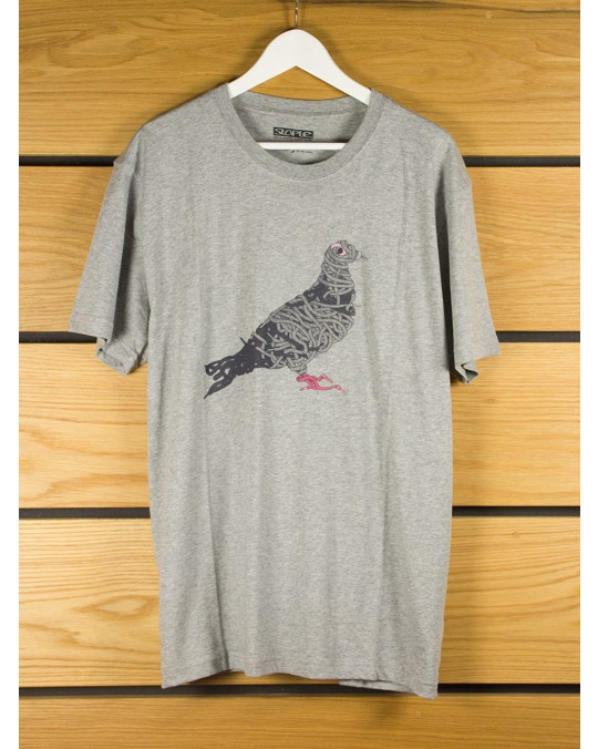 Staple Design Pigeon Laces T-Shirt - Heather Grey