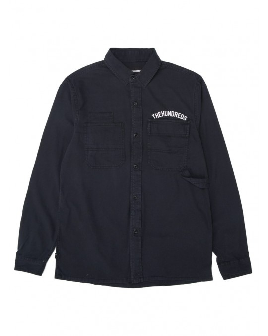 The Hundreds Compresser L/S Woven Faded - Black