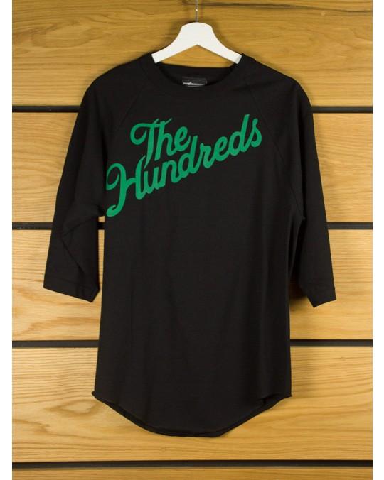 The Hundreds Slant Baseball 3/4 Sleeve T-Shirt - Black Black