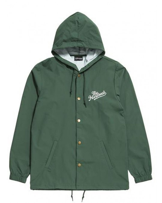 The Hundreds Slant Trail Hooded Coach Jacket - Forest