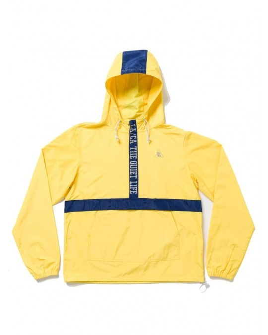 The Quiet Life City Limits Pullover Hoody - Yellow Navy