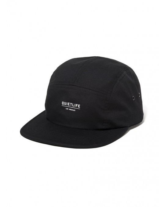 The Quiet Life Taslan 5 Panel Hat - Black