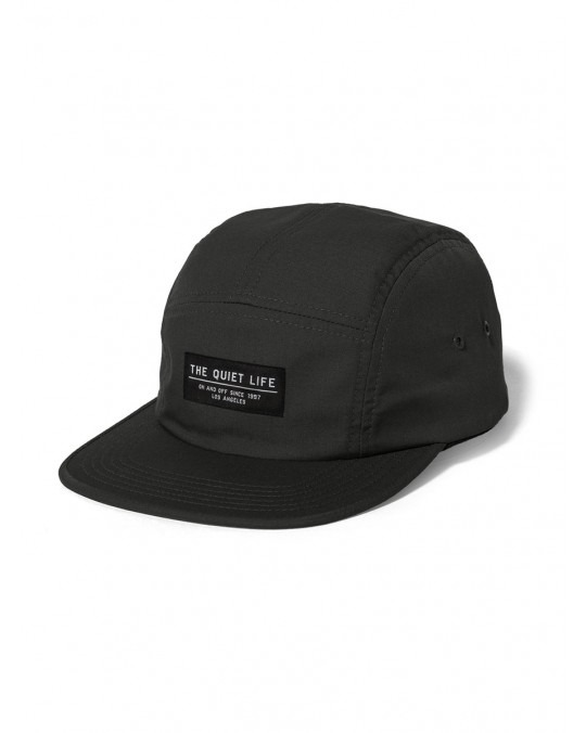 The Quiet Life Foundation 5 Panel Camper Hat - Black