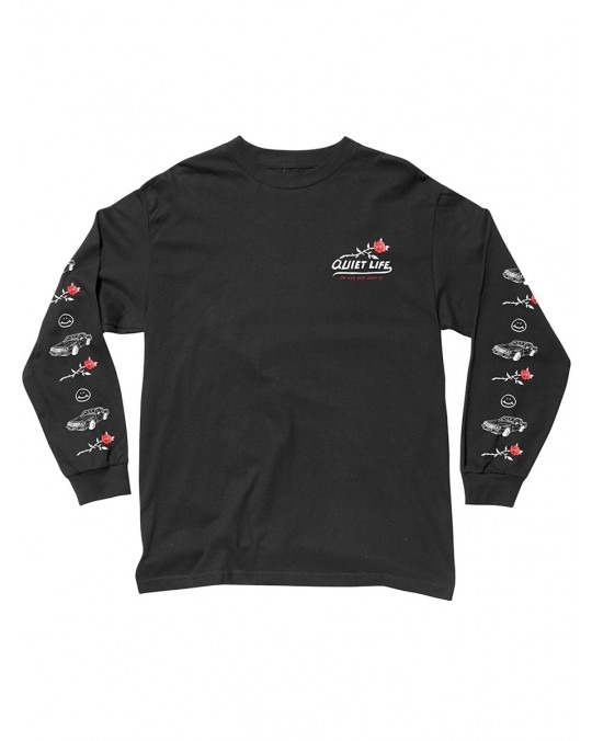 The Quiet Life Heavy Slime L/S T-Shirt - Black
