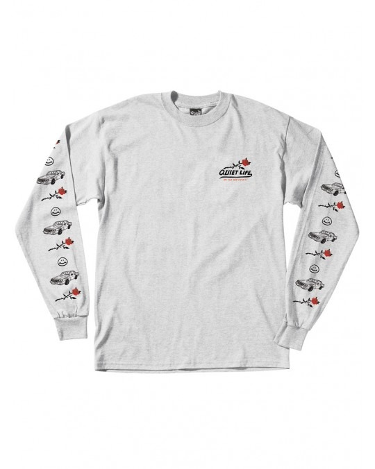 The Quiet Life Heavy Slime L/S T-Shirt - Heather Grey