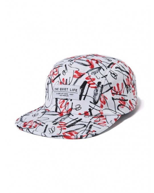 The Quiet Life x James Jarvis 5 Panel Camper Hat - Red White