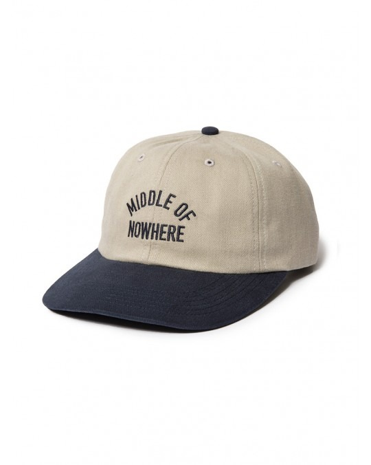 The Quiet Life Middle of Nowhere Polo Hat - Tan Navy