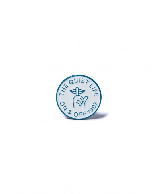 The Quiet Life Shhh Circle Label Pin - Multi