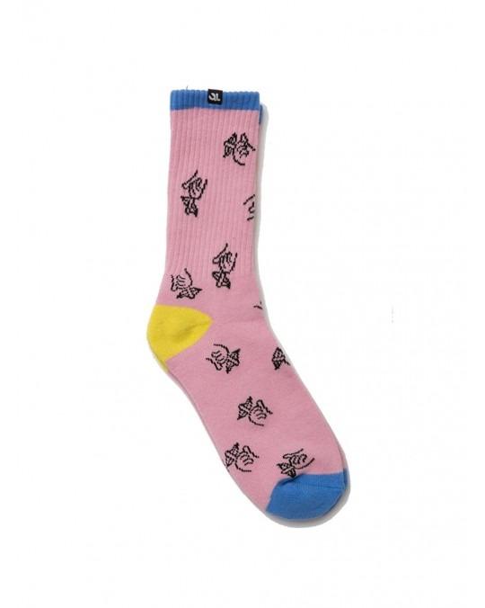The Quiet Life Shhh Socks - Pink